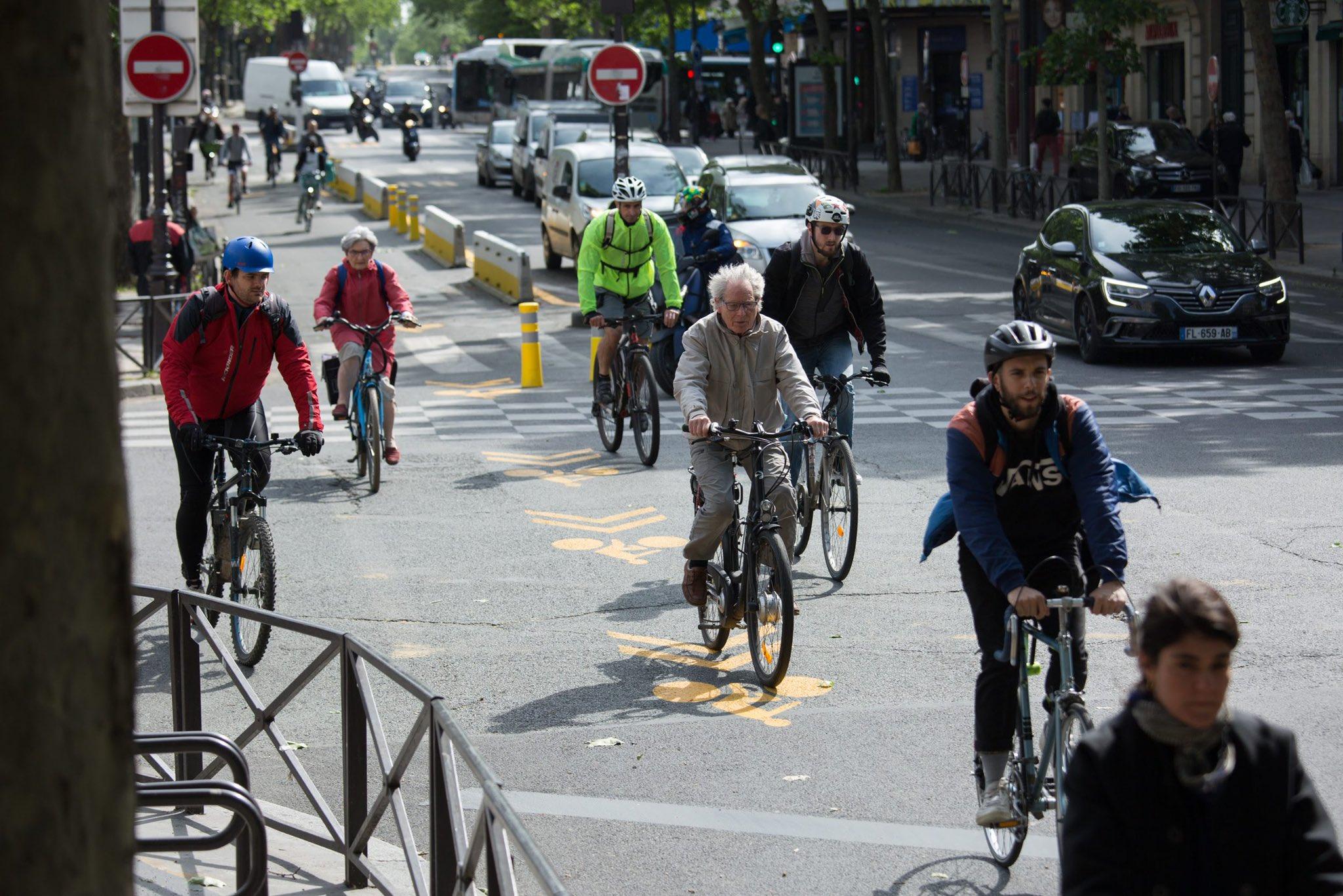 Piste cyclable temporaire Paris - COVID19