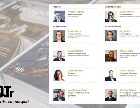 Conseil d'Administration de l'Association québécoise des transports (AQTr) 2020