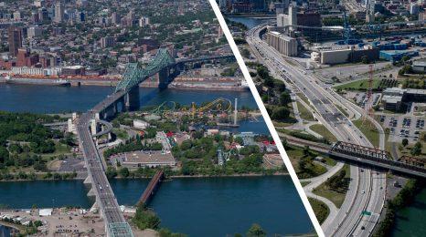 Pont Jacques-Cartier et autoroute Bonaventure à Montréal PJCCI